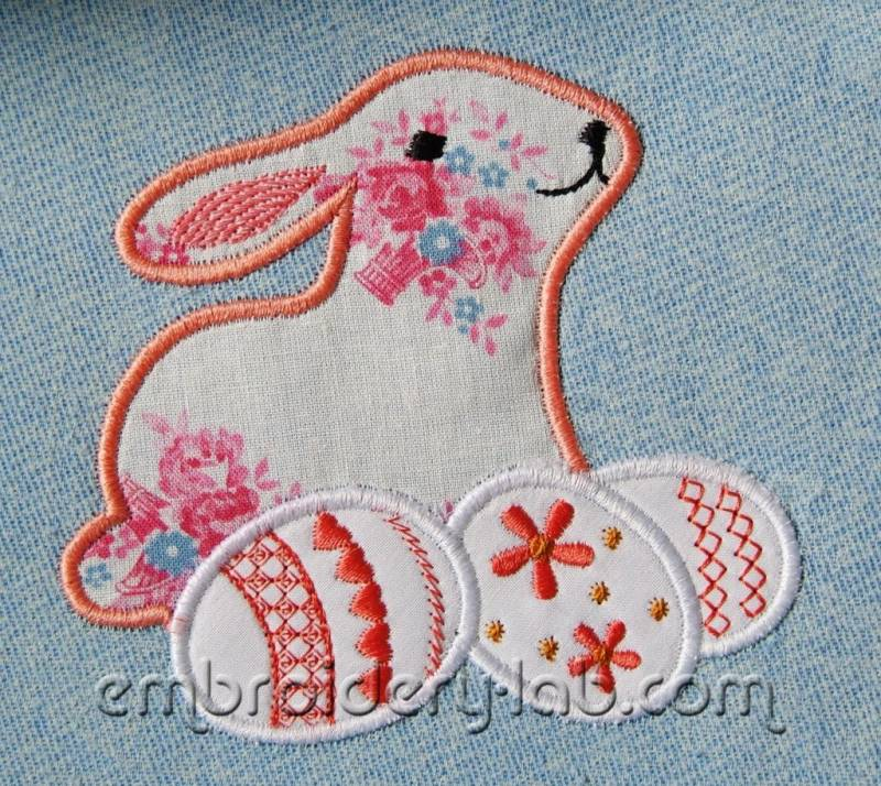 Easter Bunny applique 0001