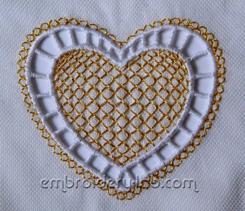 Heart cutwork