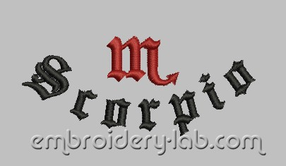 Inscription Scorpio 0002