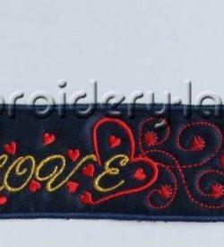 Bookmark inscription Love FREE