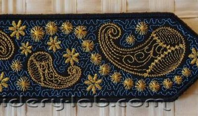Bookmark paisley 0001