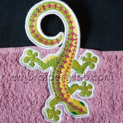 Towel topper lizard 0001