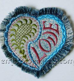 Paisley heart 0001 applique
