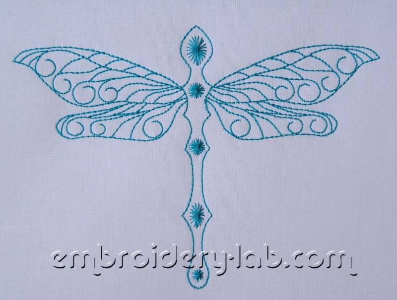 Dragonfly 0002 redwork