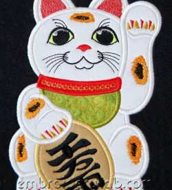 Maneki Neko 0002 applique