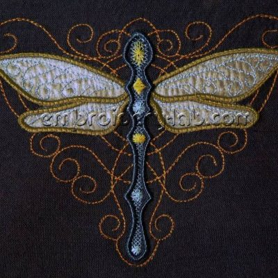 Dragonfly 0001 applique 2