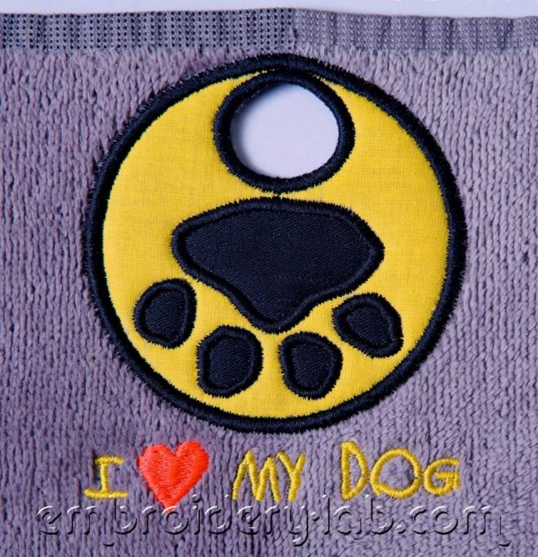 Towel topper I love my dog 0001