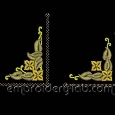Art Nouveau floral corners 0001+0002 SET