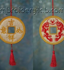 Feng Shui Lucky Coin 0001 Hanging Decoration