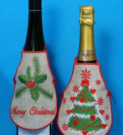 Christmas Bottle Apron SET