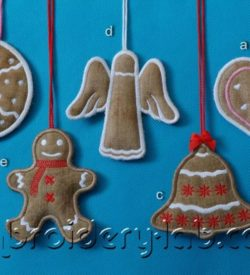 Christmas Cookies Hanging Decoration Set 0001