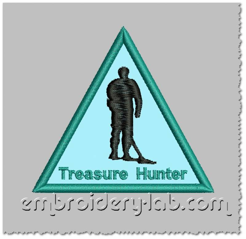 Treasure Hunter applique 0001 FREE