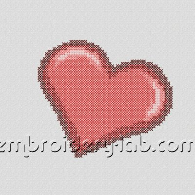 Heart 0002 Cross Sitch FREE