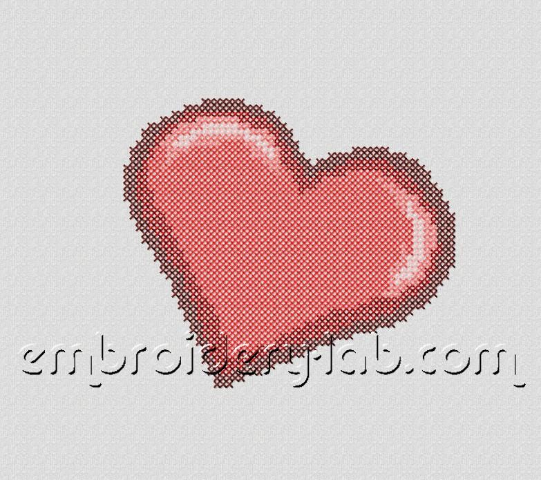 Heart 0002 Cross Sitch FREE