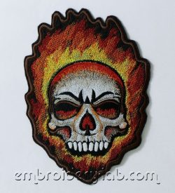 Skull 0002 applique