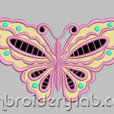 Butterfly 0001 Cutwork Applique