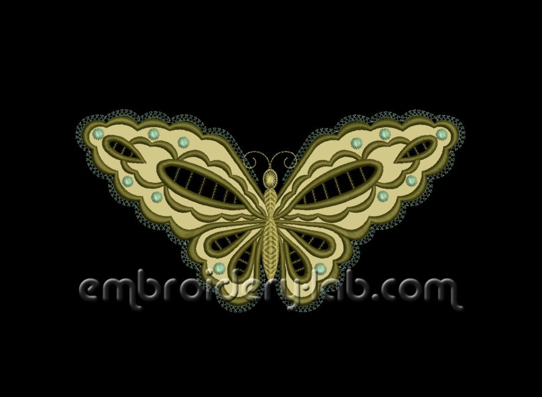 Butterfly 0002 Cutwork Applique