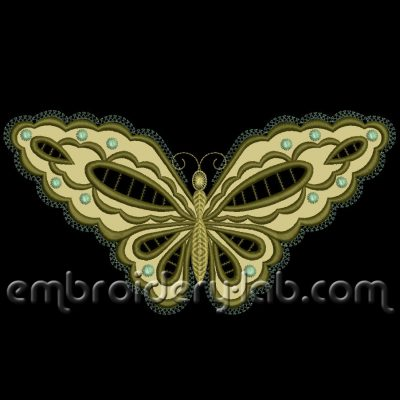 Butterfly 0002 Cutwork Applique