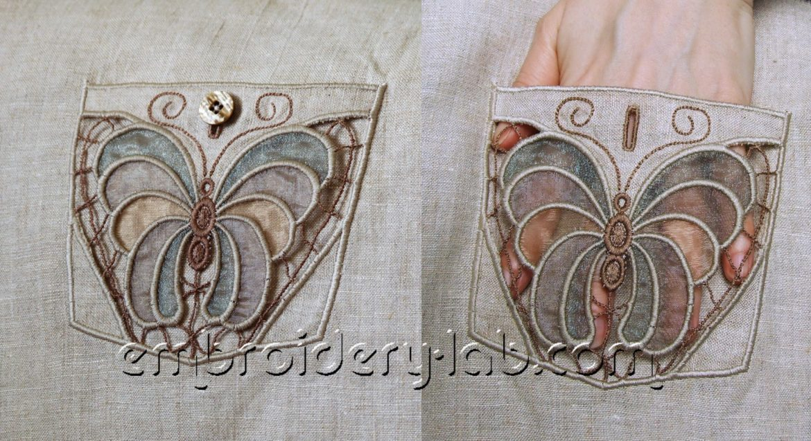 Butterfly 0005 Cutwork Pocket