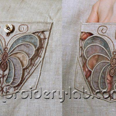 Butterfly 0005 Cutwork Pocket