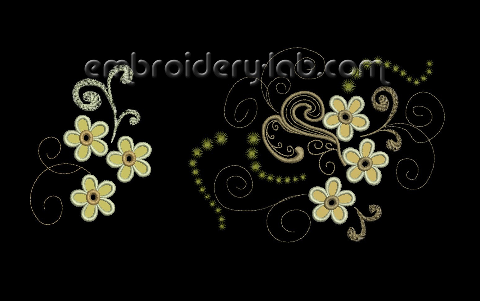 Flowers Cutwork Set