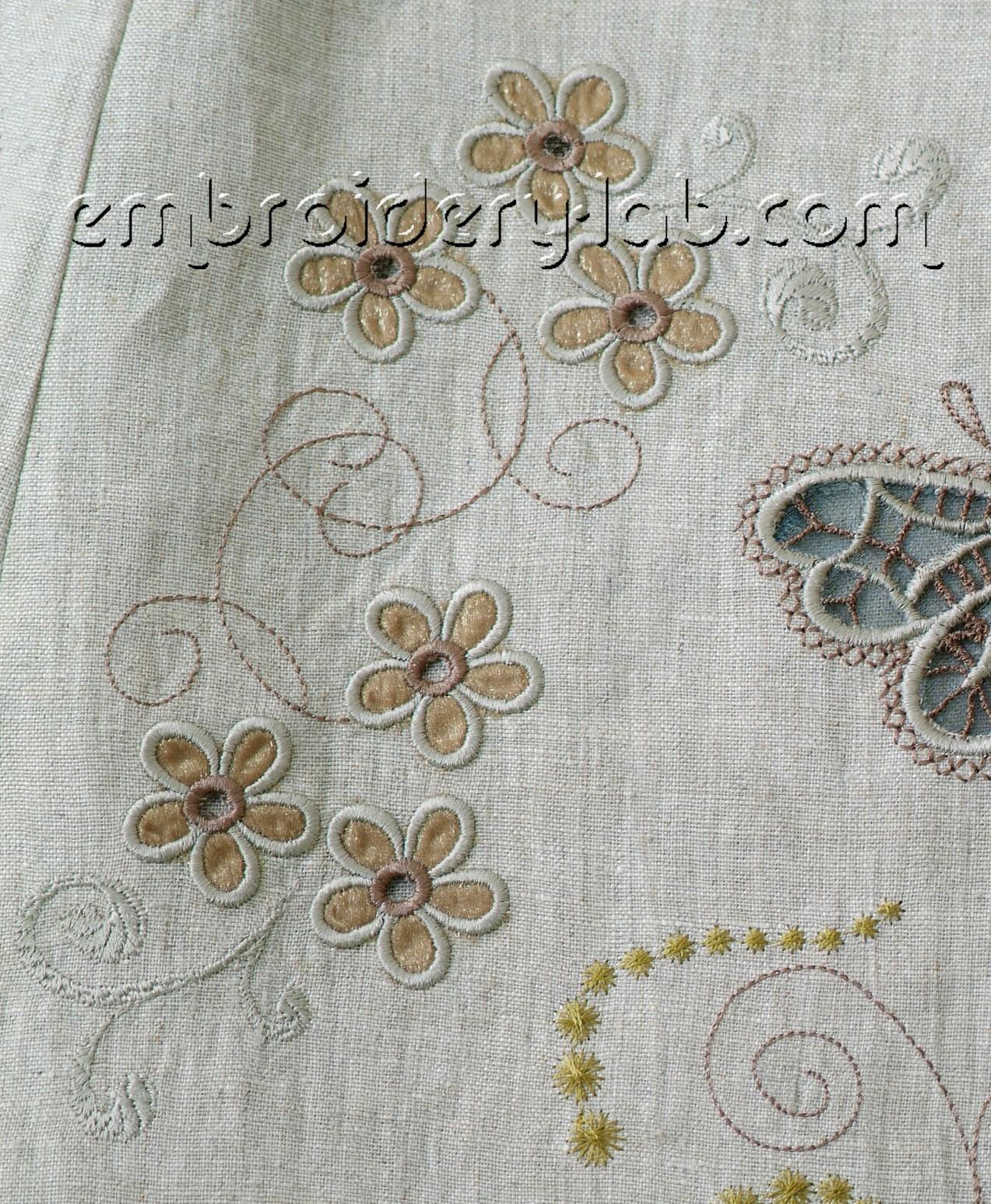 Flowers Cutwork Set