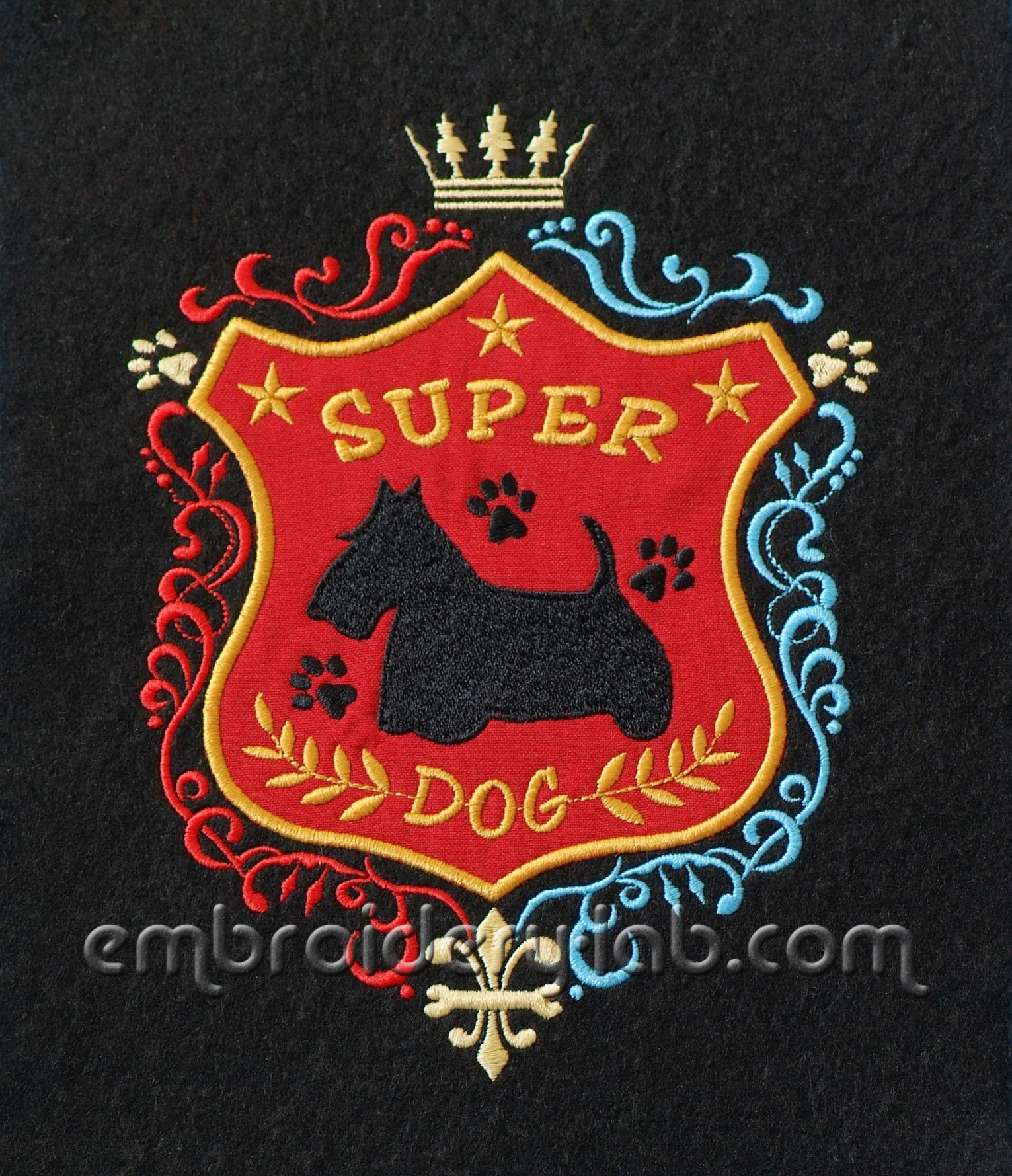 Super Dog Scottie Patch