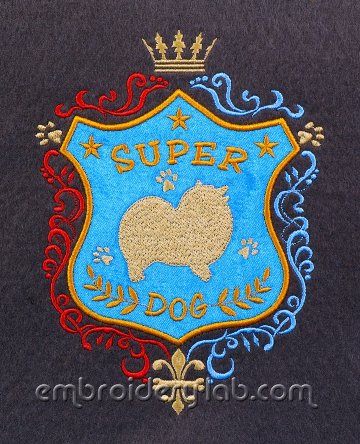 Super Dog Spitz Patch