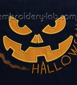 Halloween pumpkin 0001 applique