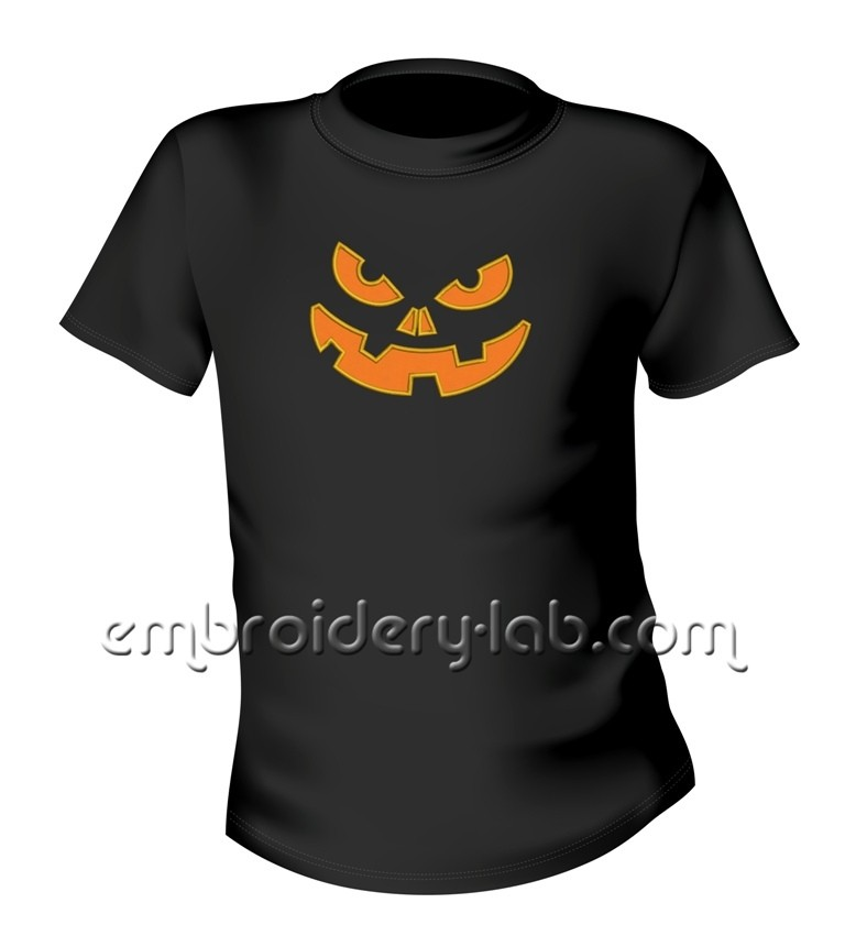 Halloween pumpkin 0002 applique