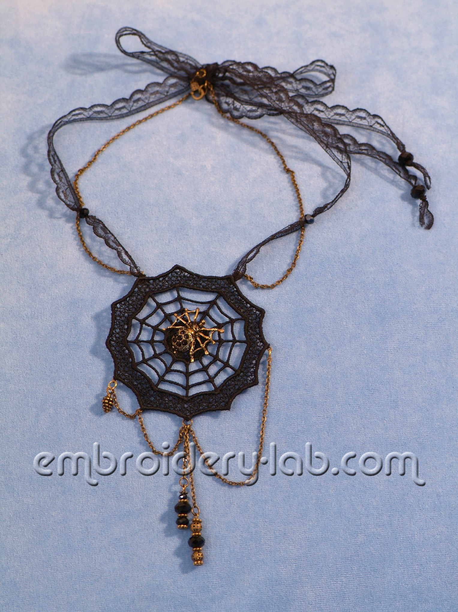 Necklace Spider's Web 0002
