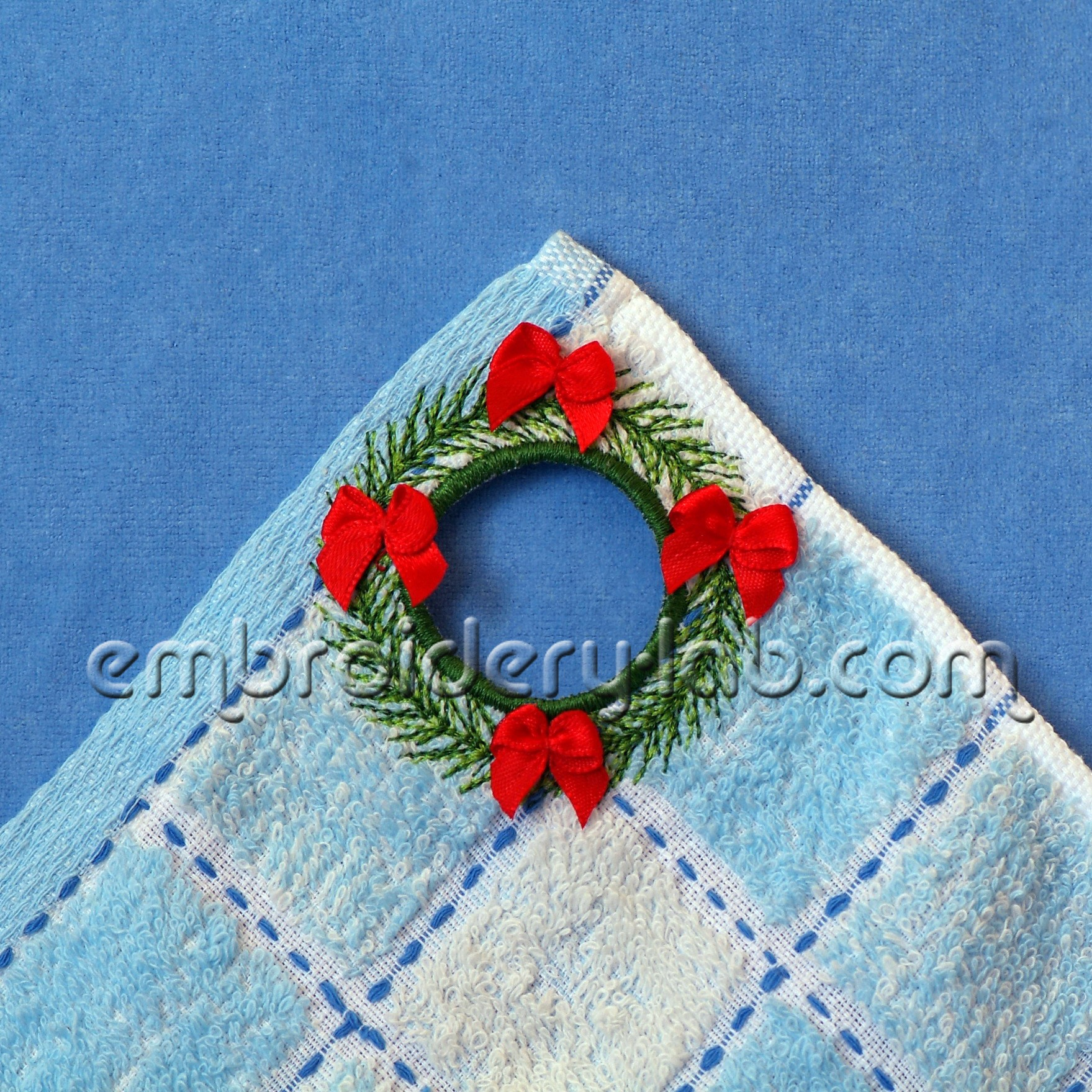 Towel Topper Christmas Wreath 0001 SET