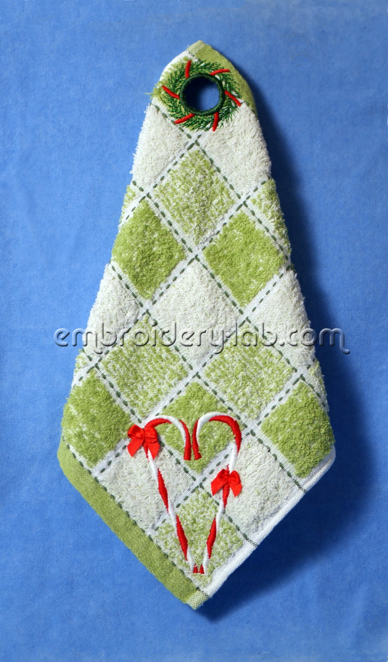 Towel Topper Christmas Wreath 0002 SET
