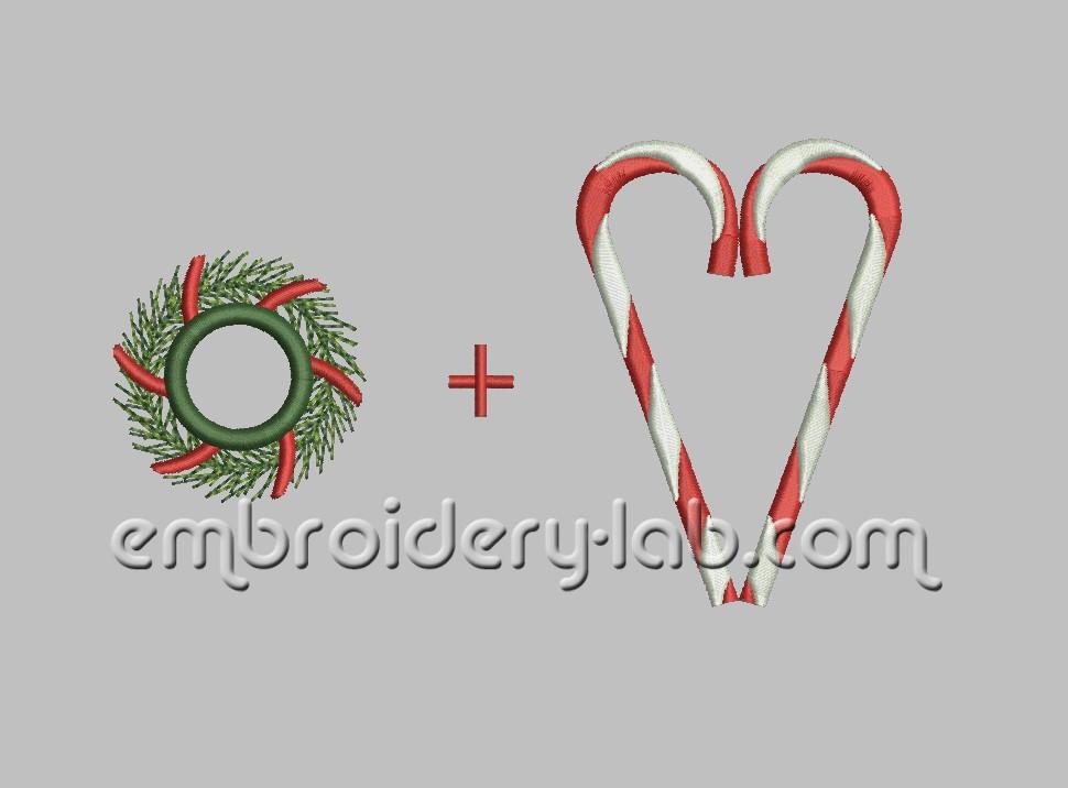 Towel Topper Christmas Wreath 0002 SET