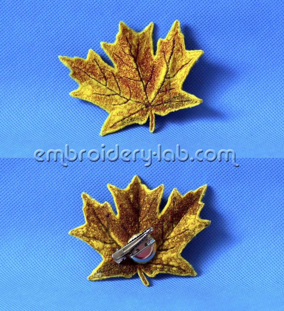 Maple leaf 0003 Brooch