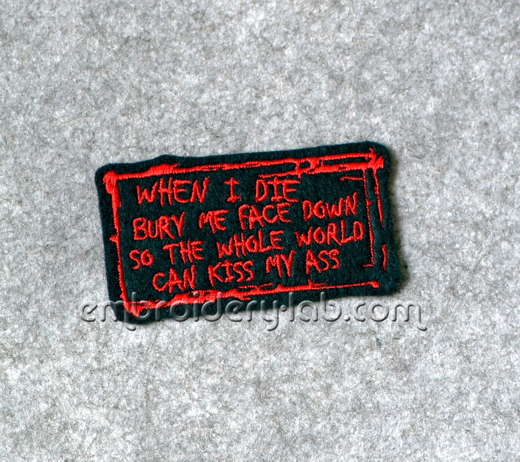 WHEN I DIE Patch 0001