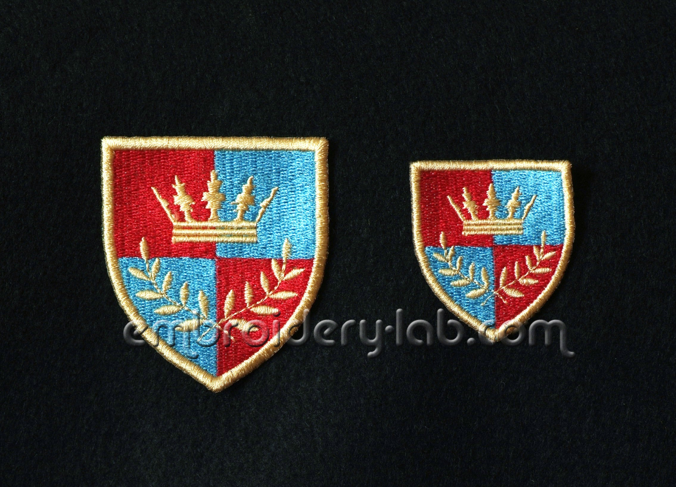 Coat Of Arms Crown Patch 0001