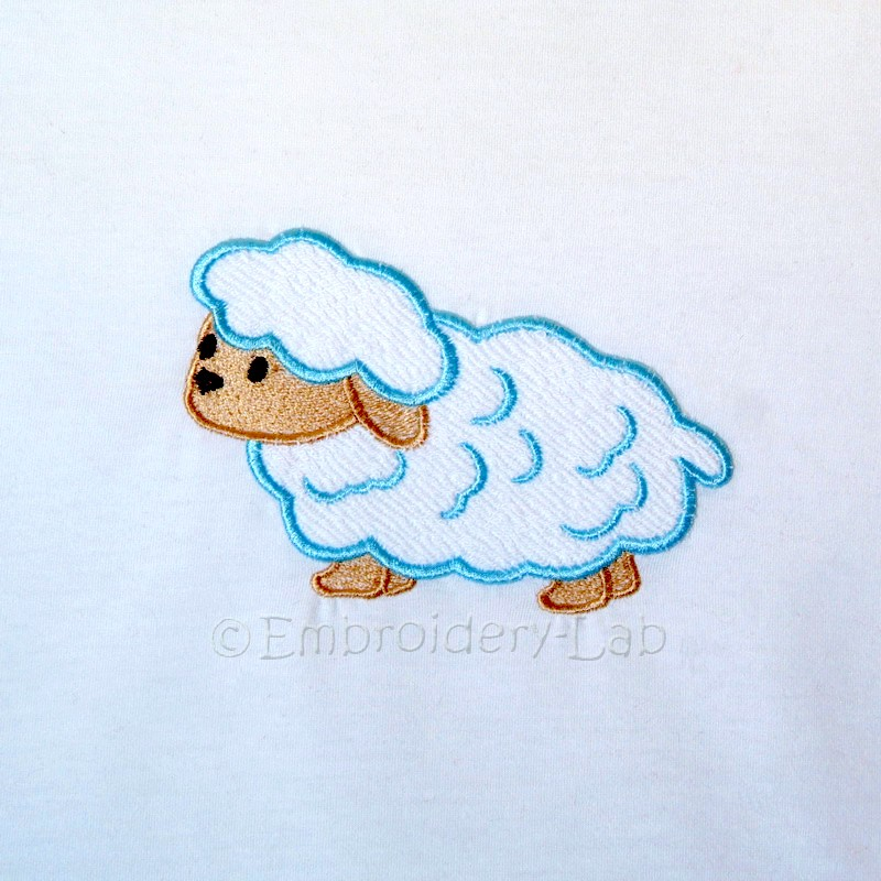 Lamb applique 0001