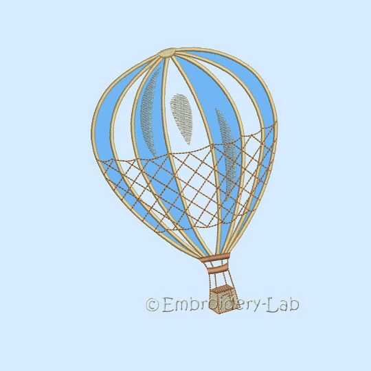 Hot Air Balloon machine embroidery design